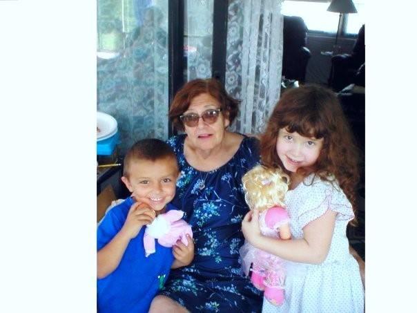 My Mom with 2 grandkids