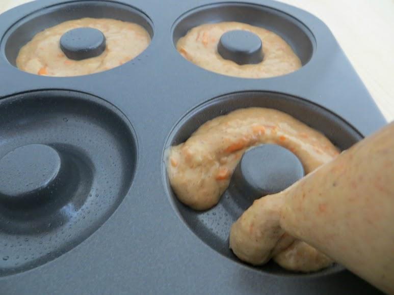 pipe into baking pan