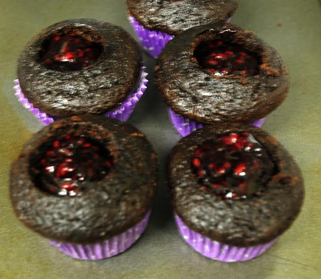 choc blackberry cupcake 1