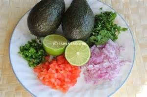 Avocado guac ingredients